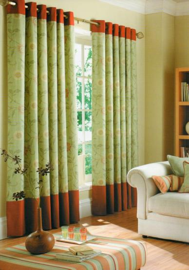 Eyelet Heading Curtains Available From Interior